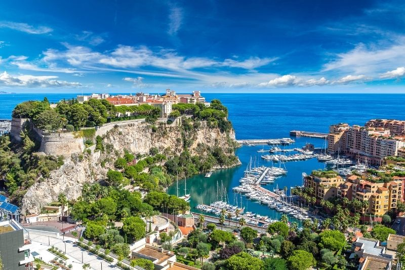 Hafen von Fontvieille in Monaco