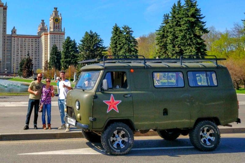 Soviet van tours in Moscow
