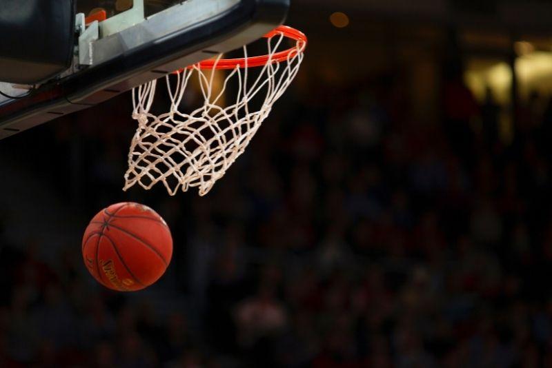 basketball game at Spectrum Center