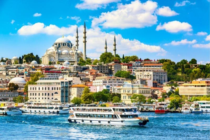 boat tour on the Bosphorus