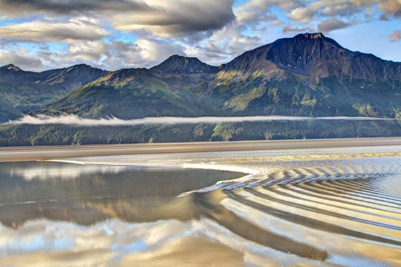 bore tide in Turnagain Arm, Anchorage