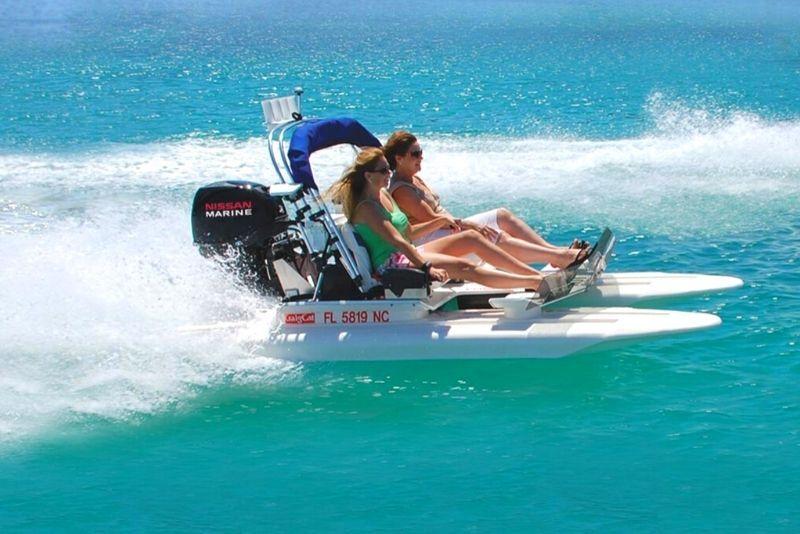 creek cat boat tour in Hilton Head Island
