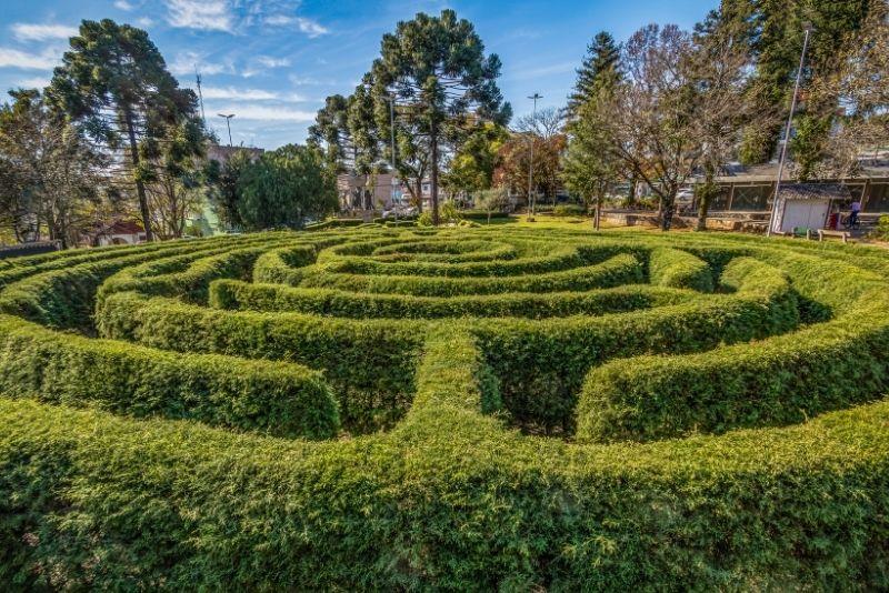 Heckenlabyrinth in Dublin
