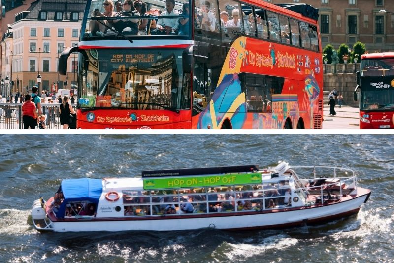 bus hop-on-hop-off e tour in barca a Stoccolma