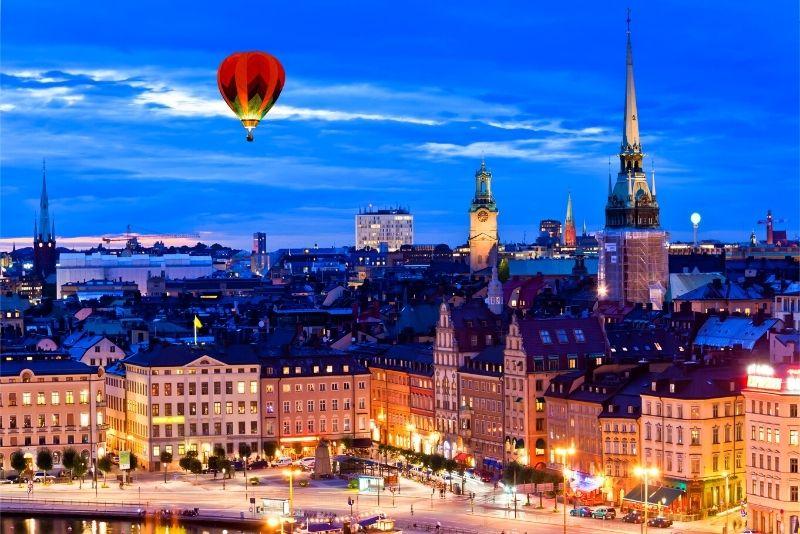 giri in mongolfiera a Stoccolma