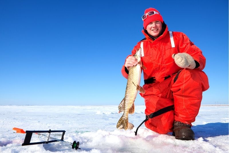 ice fishing in Montreal