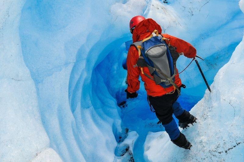 ice walking in Mendenhall Glacier