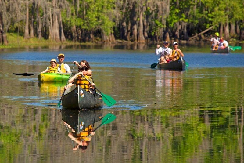 kayak tour in Shingle Creek Regional Park in Kissimmee, Florida
