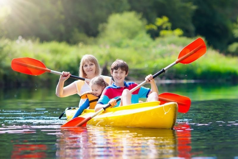 kayaking in Lake Corman