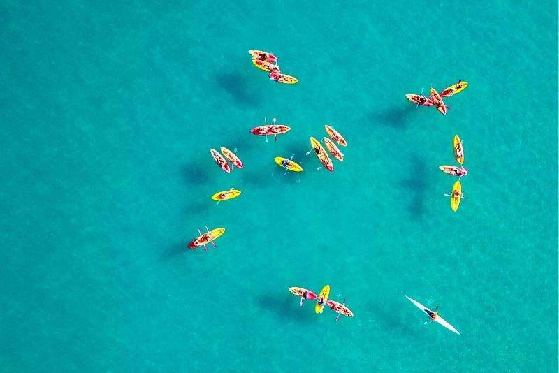 kayaking tour in Aruba