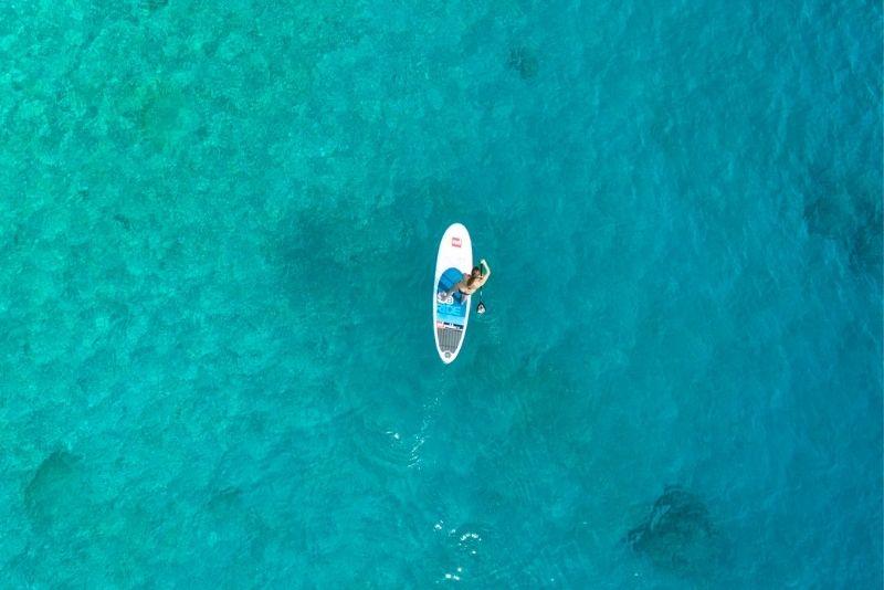 paddleboarding in Panama City
