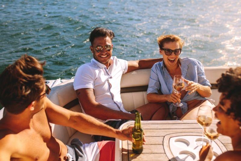 pontoon boat ride in Destin