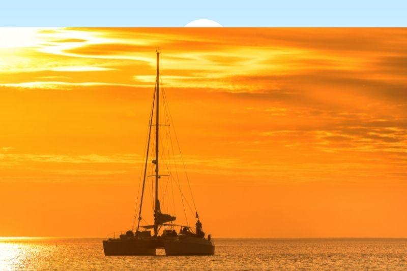 romantic sunset cruise in Destin