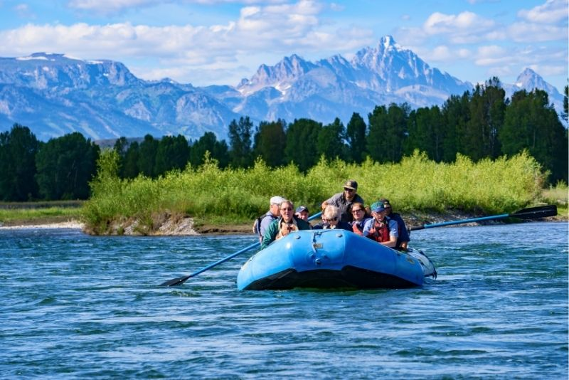 scenic float in Jackson Hole, Wyoming