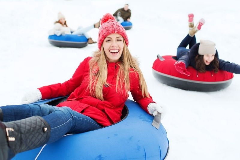 snow tubing in Jackson Hole