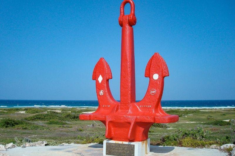 the red anchor, Aruba
