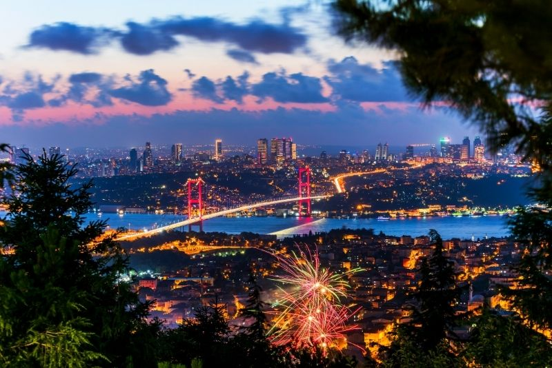 view from Camlica Hill, Istanbul