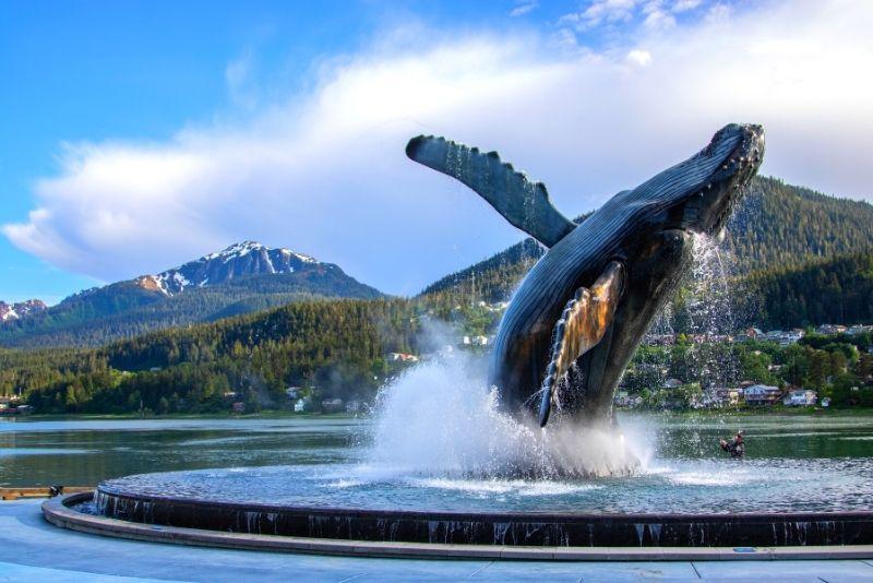 whale sculpture, Juneau