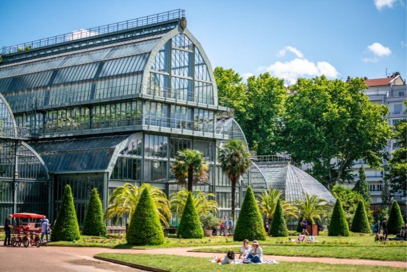Grande Serres of the Parc de la Tete d'or garden in Lyon