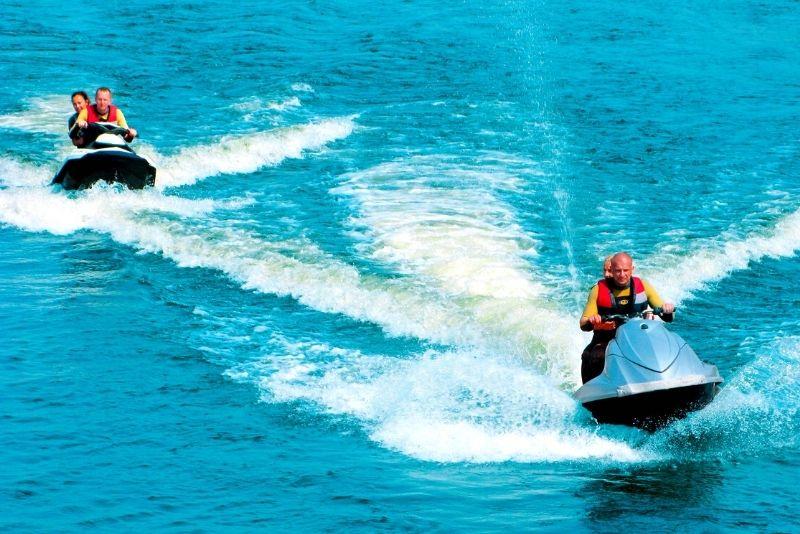 Jet ski on the Garonne River
