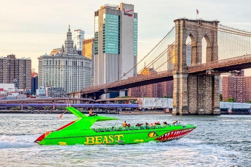 The Beast speedboat ride, Manhattan