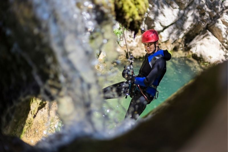 canyoning in Banff
