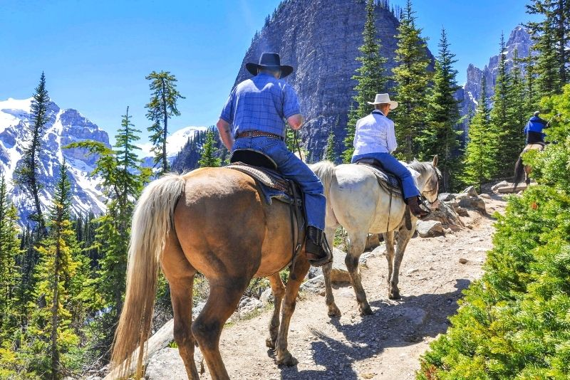 horse riding in Banff